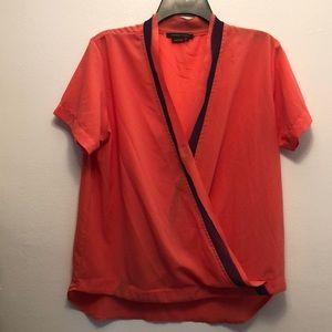 BCBG MAXAZRIA Orange blouse small